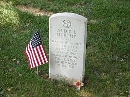 Gravestone of Audie Murphy - American Hero