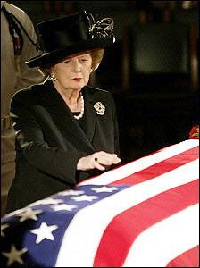 President Ronald Reagan Eulogy By Margaret Thatcher