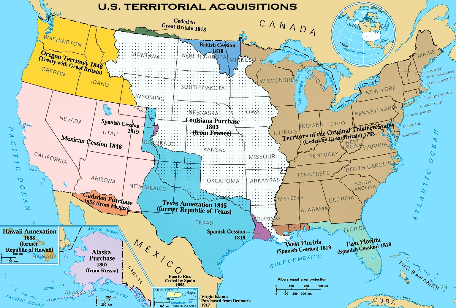 Image History Of United States Territorial Expansion - Us map expansion
